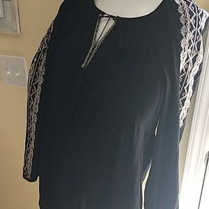Bohemian style blouse. Loose and comfy rayon/poly